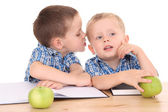 Two schoolboys — Stock Photo