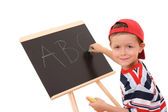Blackboard and child — Stock Photo