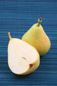 Close-ups of two delicious pears — Stock Photo