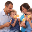 Sweet family — Stock Photo
