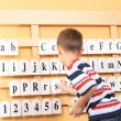 Boy and letters — Stock Photo