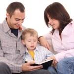 Leisure activity - family reading — Stock Photo