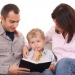 Leisure activity - family reading — Stock Photo #4658826