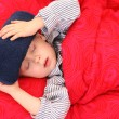 Sick kid — Stockfoto