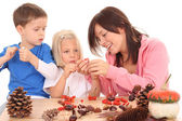 Autumn - making decoration — Stock Photo