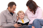 Leisure activity - family reading — Stock Photo