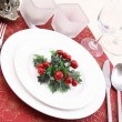 Christmas table setting — Stock Photo #4660658