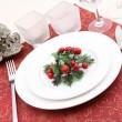 Christmas table setting — Stock Photo