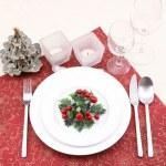 Christmas table setting — Stock Photo #4660681