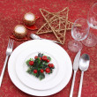 Christmas table setting — Stock Photo #4660778