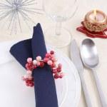 Christmas table setting — Stock Photo #4667059