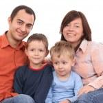 Portrait of family — Stock Photo