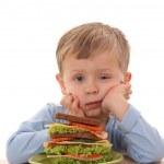 Boy and big sandwich — Stock Photo #4668245