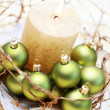 Christmas candle — Stock Photo #4669454