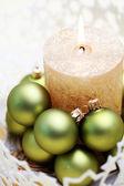 Christmas candle — Stok fotoğraf