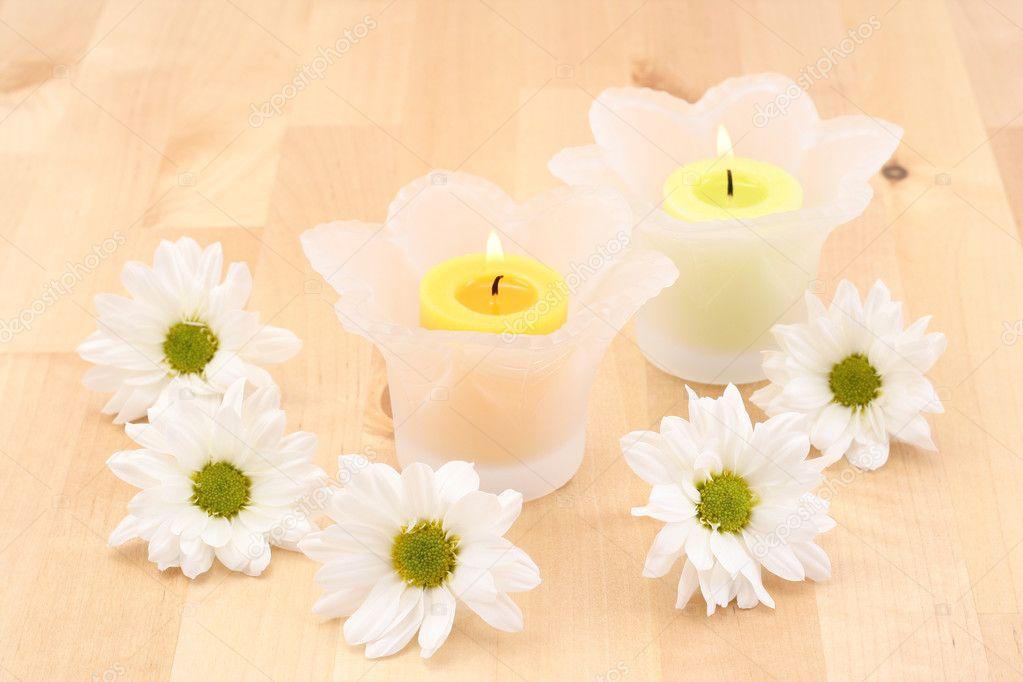 Towels, soaps, flowers, candles vkontakte facebook