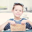 Royalty-Free Stock Photo: Eating cereals