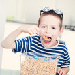 Eating cereals — Stock Photo #4697163