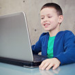 Schoolboy with laptop — Stock Photo #5067516