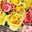 Basket of roses — Stock Photo #5180581