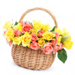 Basket of roses — Stock Photo #5180585
