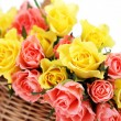 Basket of roses — Stock Photo #5180597
