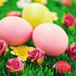 Royalty-Free Stock Photo: Easter eggs in green