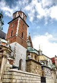 Cathedral at Wawel hill in Cracow. — Stock Photo