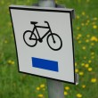 Bike sign - Stock fotografie