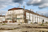 Abandoned Industrial Warehouse — Stockfoto