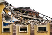 Förstörda byggnaden — Stockfoto