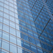 Glass wall of business center — Foto Stock