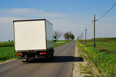 The truck on road — Stock Photo