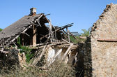 Destroyed house — Foto Stock