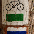 Bicycle sign - Stok fotoğraf