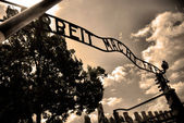 Auschwitz Birkenau camp — Stock Photo