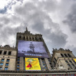 Palace of Culture and Science in Warsaw - Stockfoto