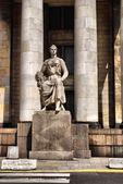 Palácio da cultura e da ciência em varsóvia — Fotografia Stock