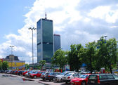 Life in the city. Warsaw, Poland — Stockfoto