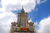 Palace of Culture and Science in Warsaw — Stok fotoğraf