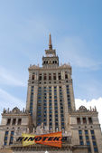 Palace of Culture and Science in Warsaw — 图库照片