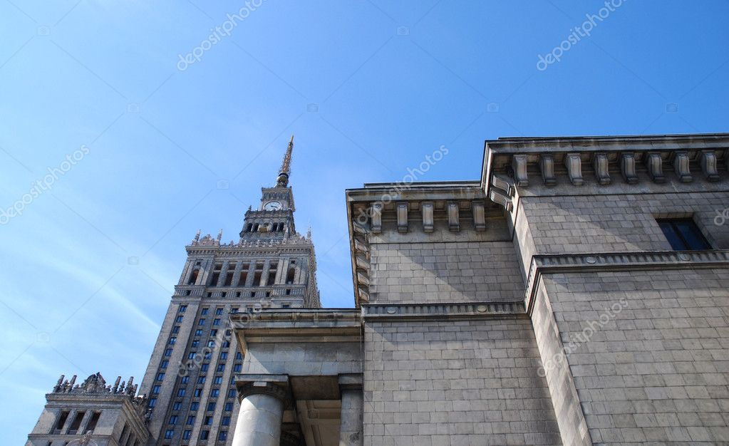 Palace of culture and science in Warsaw. Poland — Stock Photo #3235826