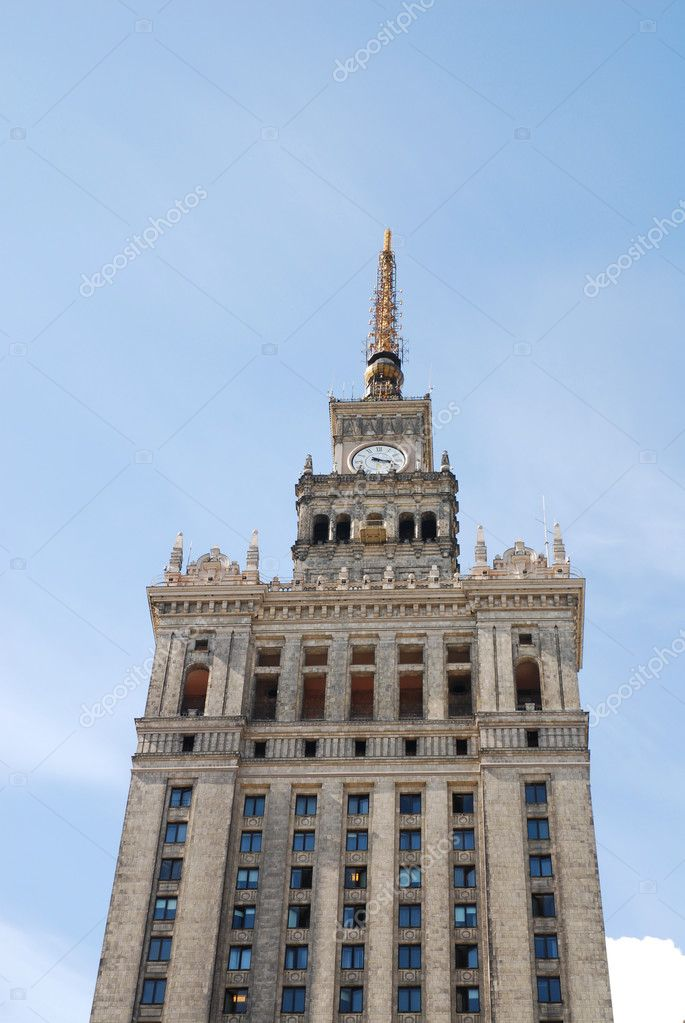 Palace of culture and science in Warsaw. Poland  Stock Photo #3235887