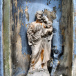 Stock Photo: Old statue in cemetery
