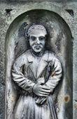 Stary pomnik na cmentarzu — Zdjęcie stockowe