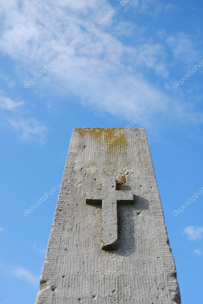 Cross against blue shining sky — Stock Photo #3261661