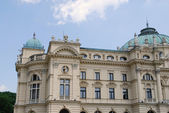 The baroque style theater built in 1892 in Cracow — Foto Stock