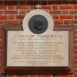 The plaque in the wall of St Mary's Church in Cracow — Foto Stock