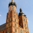 Tower of Mariacki Church in Cracow — Stock Photo #3312642