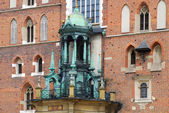 Fragment of St Mary's Church in Cracow — Stock Photo